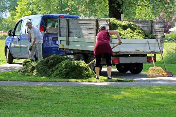 evacuation dechets vegetaux ramassage feuilles mortes herbes